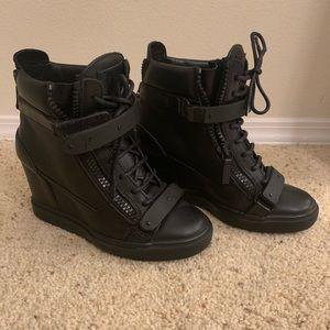 Black Giuseppe Wedged Sneakers